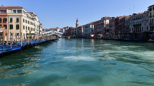 Lockdown Italia, Polusi Turun hingga Sungai Venesia Jernih