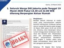 Kominfo Larang Warga Jakarta Keluar Rumah Hari Ini? Hoaks!