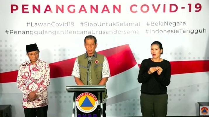 Demikian disampaikan Ketua Gugus Tugas Percepatan Penanganan Covid-19 Letnan Jenderal TNI Doni Monardo.