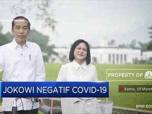 Presiden Jokowi dan Ibu Negara Negatif Corona