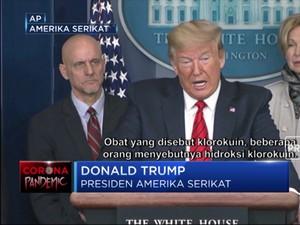 Kata Trump, Obat Malaria