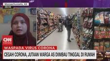 VIDEO: Cegah Corona, Jutaan Warga AS Diimbau Tinggal di Rumah