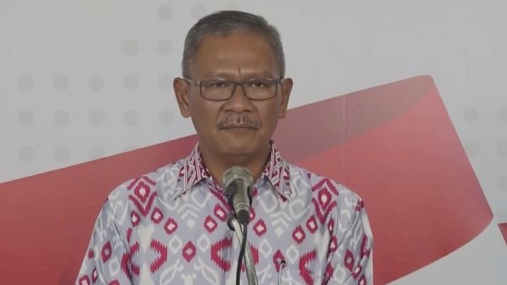 Juru Bicara Pemerintah untuk Covid-19 Achmad Yurianto seperti biasa menggelar jumpa pers secara virtual.