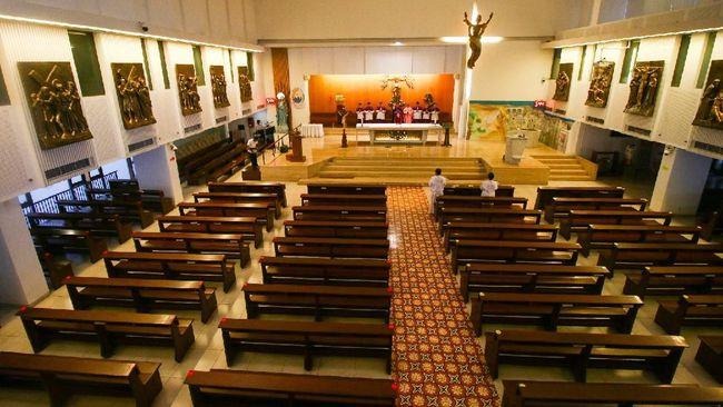 Umat Katolik Awali Pekan Suci lewat Video Streaming