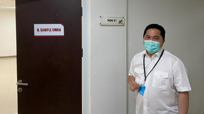 Menteri BUMN Erick Thohir sudah menggelontorkan jutaan masker.