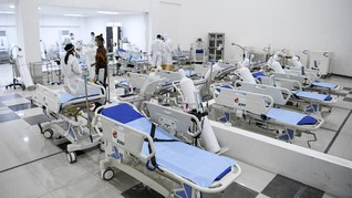 RS Wisma Atlet Rawat 387 Pasien, 77 Orang Positif Corona