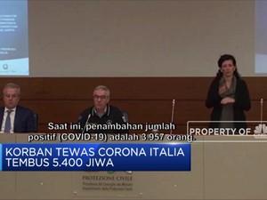 Angka Kematian Corona di Italia Tembus 5.400 Jiwa