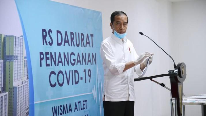 Jokowi Tinjau Wisma Atlet Kemayoran Untuk Pasien Virus Corona. Muchlis Jr - Biro Pers Sekretariat Presiden