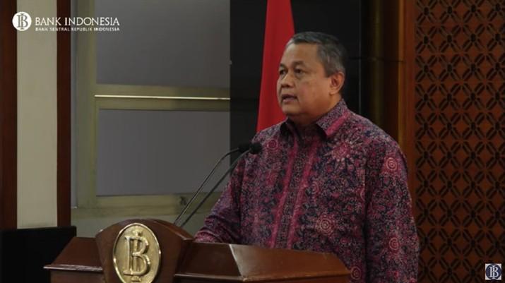 Gubernur Bank Indonesia Perry Warjiyo bersama Komisi XI DPR menggelar rapat kerja.