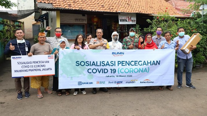 BRI Salurkan Bantuan Lawan Pandemi Corona