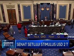 Senat Setujui Stimulus USD 2 Triliun