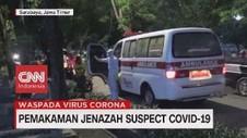 VIDEO: Pemakaman Jenazah Suspect Corona di Surabaya