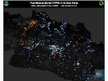 Peta Corona Pikobar Jabar : 149 Positif, 19 Orang Meninggal