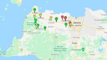 Peta Corona Banten Kabupaten Tangerang Terbanyak Covid 19