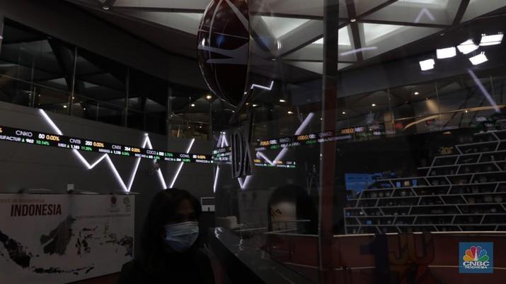 Ilustrasi Bursa Efek Indonesia, Kamis 26/3/2020 (CNBC Indonesia/Tri Susilo)