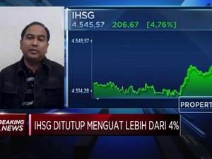 IHSG Terapresiasi 4,76%, Analis: Ini Penguatan Jangka Pendek