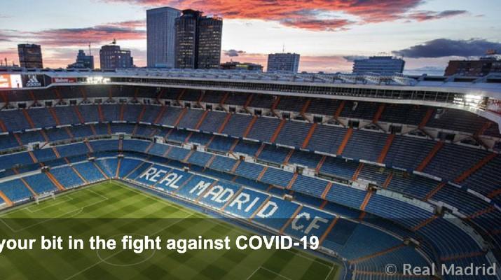 Real Madrid Ubah Stadion Santiago Bernabeu Jadi Gudang Medis