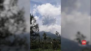 VIDEO: Merapi Erupsi, Abu Vulkanik Hujani Yogyakarta-Magelang