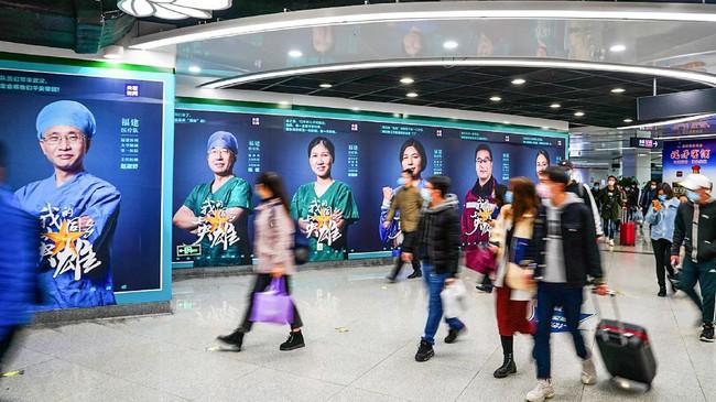 Pertambahan kasus baru positif virus corona di China terus melambat. (Photo by STR / AFP) / China OUT