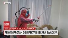 VIDEO: Penyemprotan Disinfektan Secara Swadaya