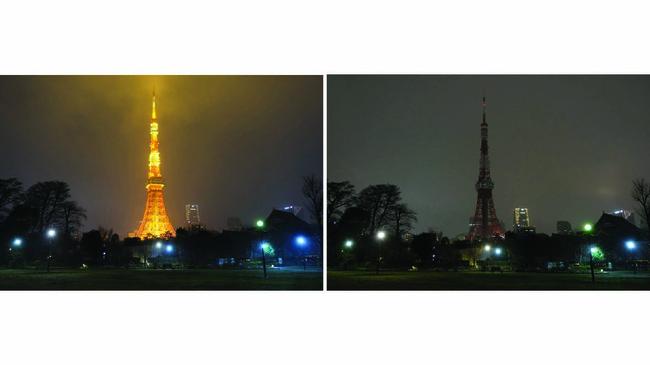 Jepang ikut merayakan Hari Bumi dengan memadamkan lampu di Menara Tokyo pada 28 Maret 2020. (Kazuhiro NOGI / AFP)