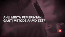VIDEO: Ahli Sarankan Rapid Test Sampel Darah Diganti PCR