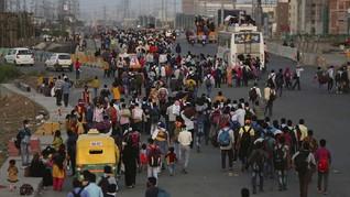 Mudik Massal di India Akibat Lockdown Telan Korban Jiwa