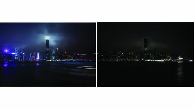 Di tengah penanggulangan pandemi Virus Corona COVID-19, Hong Kong juga masih menggelar perayaan Hari Bumi. (Isaac LAWRENCE / AFP)