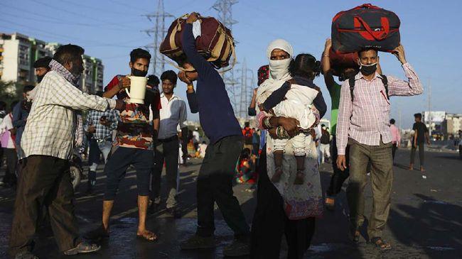 Warga India Protes Kesulitan Makanan Saat Lockdown Corona