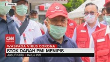VIDEO: Stok Darah PMI Menipis