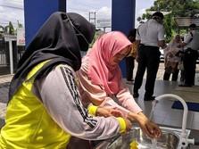 Cegah Corona, BPJS LubukLinggau Siapkan Wastafel Umum