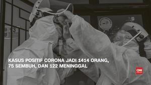 VIDEO: Korban Positif Corona Capai 1414 Orang, 75 Sembuh