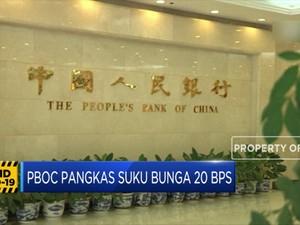 PBOC Pangkas Suku Bunga 20 Bps