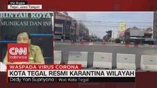 VIDEO: Wali Kota Tegal Resmi Karantina Wilayah