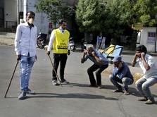 Lockdown India, Polisi Pukuli Warga yang Bandel Keluar Rumah
