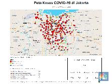 Peta Corona Jakarta 1 April : 794 Positif, 87 Meninggal