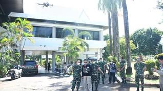 Drone Deteksi Orang Terjangkit Virus Corona Diuji di Sulsel