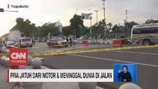 VIDEO: Pria Jatuh dari Motor dan Meninggal Dunia di Jalan