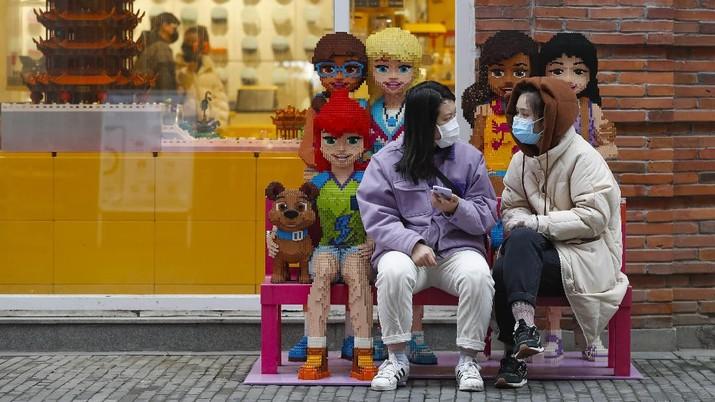 Kota Hubai, china berangsur-angsur pulih dari virus corona.  (AP/Shen Bohan)