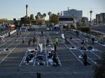Intip Lahan Parkir di AS yang Diubah Demi Karantina Tunawisma