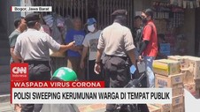 VIDEO: Polisi Sweeping Kerumunan Warga