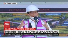 VIDEO: Jokowi Tinjau RS Covid-19 di Pulau Galang