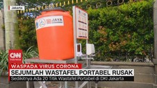 VIDEO: Sejumlah Wastafel Portabel di Jakarta Rusak