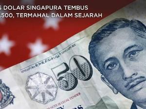 Kurs Dolar Singapura Tembus Rp 11.500, Termahal dalam Sejarah
