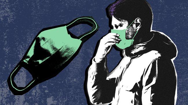 Contoh Gambar Karikatur Pakai Masker | Ideku Unik