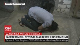 VIDEO: Pasien Sembuh Covid-19 Diarak Keliling Kampung