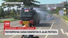 VIDEO: Penyemprotan Disinfektan di Jalan Protokol