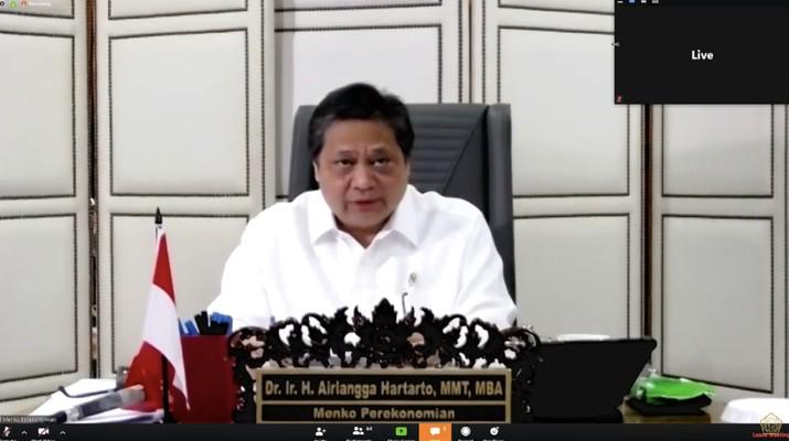 Konfrensi Pers Menteri Koordinator Bidang Perekonomian, Airlangga Hartarto terkait Stimulus Ekonomi pada Rabu (01/04) (Youtube Kementerian Keuangan)