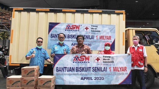 ASW Foods Donasikan Biskuit ke Tenaga Medis Senilai Rp 1 M