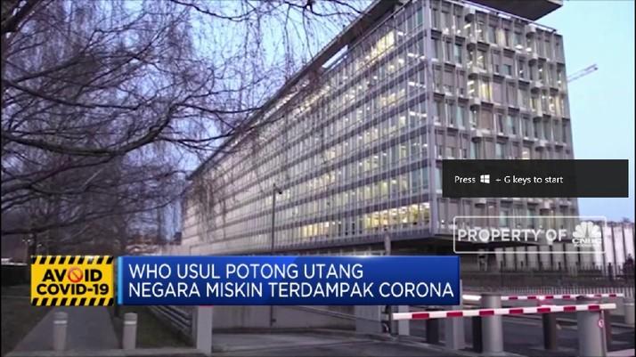 WHO Usul Potong Utang Negara Miskin yang Terkena Corona